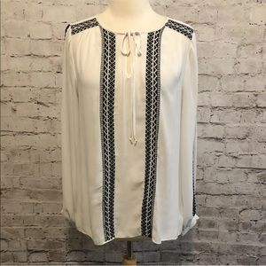 White House Black Market Embroidered Top